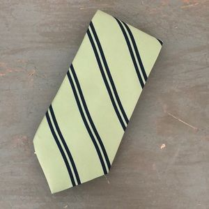 Green and Navy Silk Tie